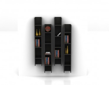 WALL MOUNTED 4 BOOKCASE