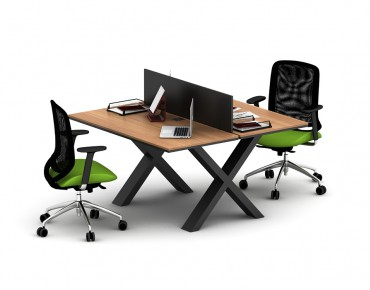 X 2 PERSON WORKSTATION DESK